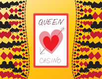 Casino Sign background. Illustration for an imaginative casino. The name Queen Casino is a generic one. Additional  format is available for download Stock Photography