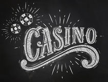 Casino sign chalk Stock Images