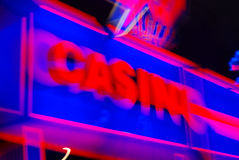 Casino sign. A casino coloured lighted sign Stock Photography