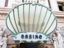 Casino Sign in Las Vegas Royalty Free Stock Photography