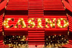 Casino Sign in Lights and Neon Stock Photos