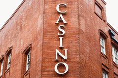 Casino in London Chinatown. Casino sign in London Chinatown Stock Images
