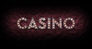 Casino Sign made from shining lights Stock Photo