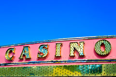 Casino sign. Over blue sky. clipping path (at Maximum size) included Royalty Free Stock Images