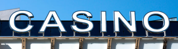 Casino sign. At the Palace of Film festivals, Cannes, France Royalty Free Stock Photography