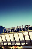 Casino sign. A casino sign with retro look and copyspace Royalty Free Stock Images