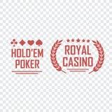 Casino  sign set. Slot machine symbols Stock Images