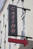 Casino Sign. In Urban Setting Royalty Free Stock Photos
