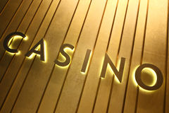 Casino sign. On the wall Stock Photos