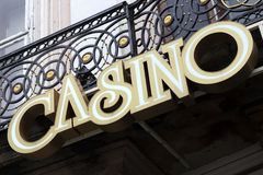 Casino signboard Stock Photos