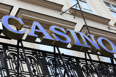 Casino signboard on the wall Royalty Free Stock Photos