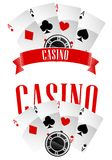 Casino signs or emblems Stock Photography