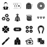 Casino simple icons Royalty Free Stock Image
