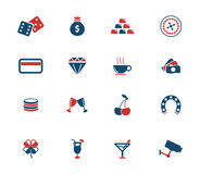 Casino simply icons. Casino simply symbol for web icons and user interface Royalty Free Stock Image