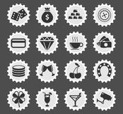 Casino simply icons. Casino simply symbol for web icons and user interface Stock Image