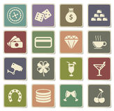 Casino simply icons Royalty Free Stock Photos
