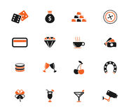 Casino simply icons Stock Photography