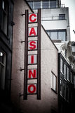 Casino sing on the building Royalty Free Stock Image