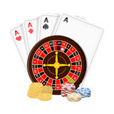 Casino, single icon in cartoon style.Casino vector symbol stock illustration web. Royalty Free Stock Images