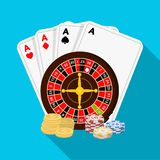 Casino, single icon in flat style.Casino vector symbol stock illustration web. Stock Photography