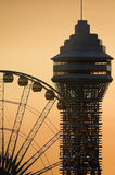 Casino and Sky Wheel Royalty Free Stock Images