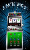 Casino slot machine vector illustration