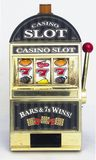 Slot machine. Casino slot machine close up Royalty Free Stock Photo