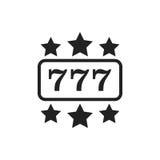 Casino slot machine flat vector icon. 777 jackpot illustration p. Icogram Stock Image
