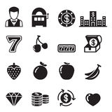 Casino , Slot machine, Gambling icons set Royalty Free Stock Photography