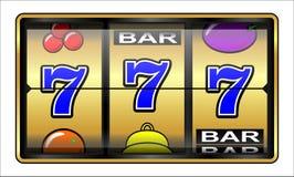 Gambling illustration 777. Slot machine. Casino slot machine, jackpot, 777 luck and success concept royalty free illustration
