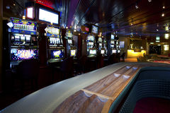 Casino with Slot Machines Stock Image