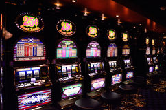Casino Slot Machines Stock Image