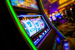 Casino Slot Machines Royalty Free Stock Photos