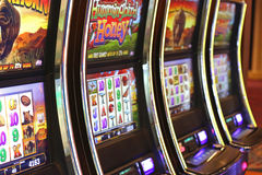 Casino slot machines Royalty Free Stock Images
