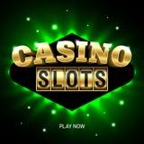 Casino slots bright banner. Illustration royalty free illustration