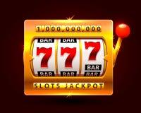 Casino slots jackpot one million. Vector illustration royalty free illustration