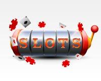 Casino slots jackpot 777 signboard. Vector illustration stock illustration