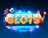 Casino slots jackpot 777 signboard. Royalty Free Stock Images