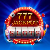 Casino slots jackpot 777 signboard. Casino slots jackpot 777 signboard . Vector illustration royalty free illustration