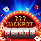 Casino slots jackpot 777 signboard. Casino slots jackpot 777 signboard . Vector illustration vector illustration