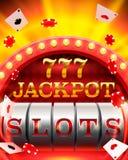 Casino slots jackpot 777 signboard. Stock Photography