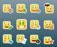 Casino smile stickers set Royalty Free Stock Photography