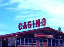 Casino sob um céu grande fotos de stock royalty free