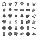 Casino Solid Web Icons. Vector Set of Game Glyphs vector illustration