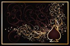 Casino spades golden card Stock Image