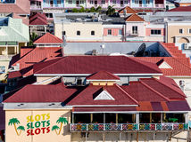 Casino on St Kitts with Slots Signs Royalty Free Stock Photos