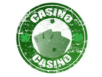 Casino stamp Stock Photography