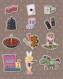 Casino Stickers Royalty Free Stock Image
