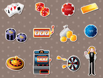 Casino stickers Royalty Free Stock Image