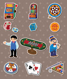 Casino stickers Stock Photos